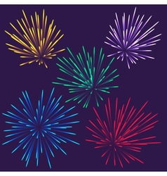 Bright fireworks vector