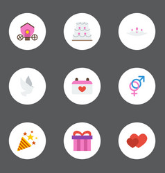 Flat icons present sexuality symbol love and vector