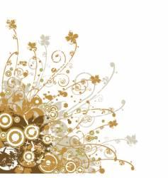 floral edge design vector image