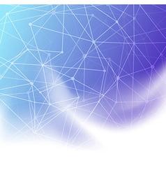 Molecule concept blue background template vector