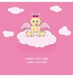 angel baby girl vector image