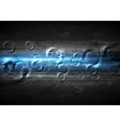 Abstract glow blue tech background vector
