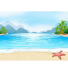 A view of the beach vector image