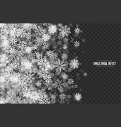 3d xmas snow effect vector