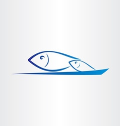 Fish jump from water icon vector