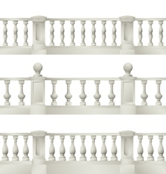 Outdoor and park elements balustrade  decorativ vector
