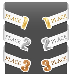 Left and right side signs - trophy numbers vector
