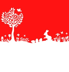 Easter meadow red vector