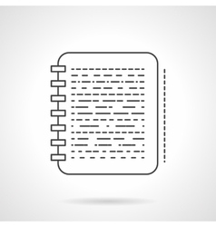 Note flat line design icon vector image
