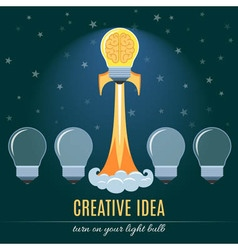 Creative idea flat concept vector