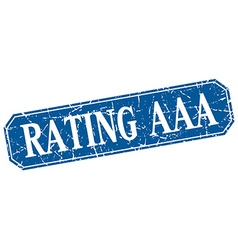 Rating aaa blue square vintage grunge isolated vector