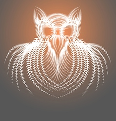 Abstract drawing of the owl vector