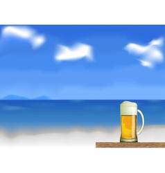 beer on the beach vector image vector image