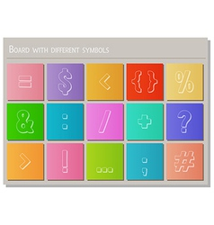 board with different symbols vector image vector image