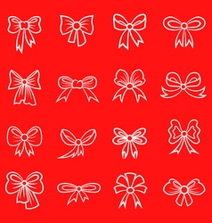 bow contour red vector image vector image