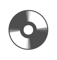 Cd or dvd sign gray icon shaked at vector