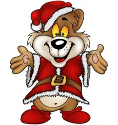 Christmas happy bear vector image vector image