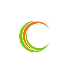 Circle letter c company logo vector