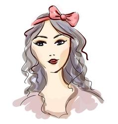 Fashion girl sketch vector image vector image