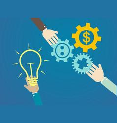 flat design concepts for idea marketing vector image