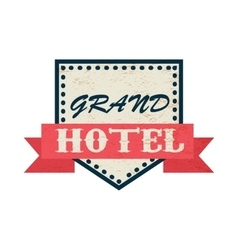 Grand hotel icon vintage style vector image