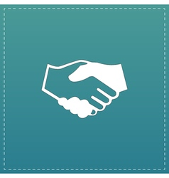 Handshake background for business and finance vector