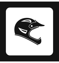 Helmet for motorcyclist icon simple style vector
