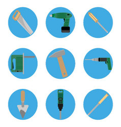 Icon construction tools set vector image vector image