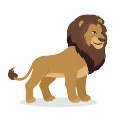 Lion cartoon icon in flat style design vector