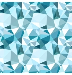 Low poly seamless pattern blue winter vector