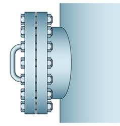 Manhole side view vector