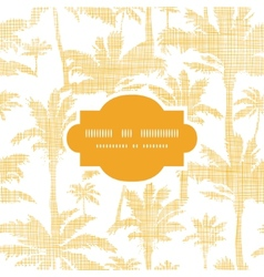 palm trees golden textile frame seamless pattern vector image vector image
