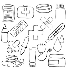 Pharmacy sketch images vector