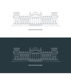 Reichstag building logo concept vector image vector image
