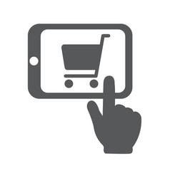 shopping online with tablet pc vector image