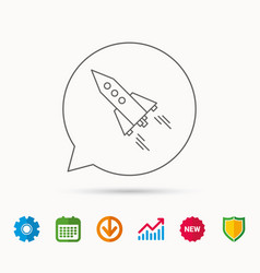 Startup business icon rocket sign vector