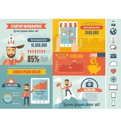 Startup infographic template vector