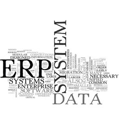 what is erp text word cloud concept vector image
