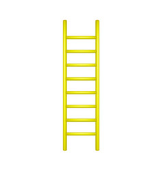 Wooden ladder in yellow design vector