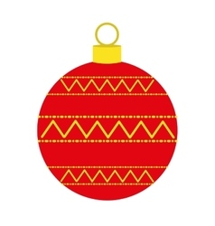 Christmas ball decoration isolated icon vector