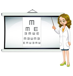 Eye doctor and reading chart vector