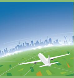 sao paulo skyline flight destination vector image