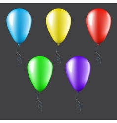 Set of balloons isolated vector