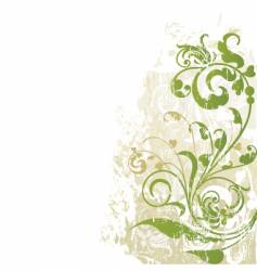 Floral edge design grunge vector