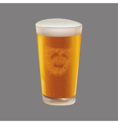 A glass of beer vector