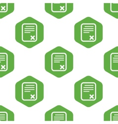 Declined document pattern vector