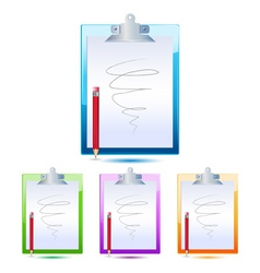 Letter pad and pencil vector