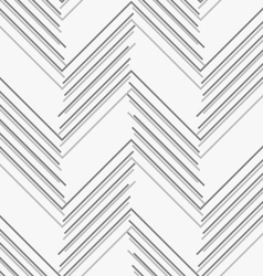 Monochrome pattern with gray and dark gray chevron vector
