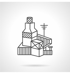Brickworks factory line icon vector