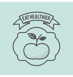 Eat healthier design vector